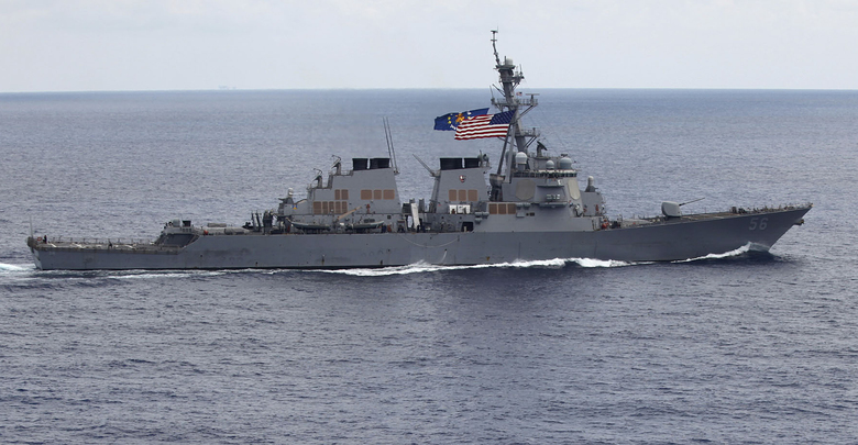 China protests U.S.  warship approaching Meiji reef