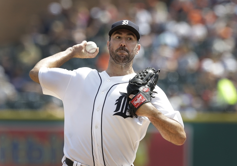 Detroit right-hander Justin Verlander has already reportedly cleared waivers, but has a full no-trade clause, and can nix any potential deal.  (Carlos Osorio/AP)
