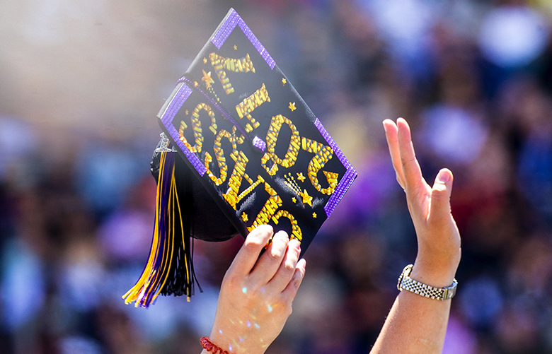 University of Washington's 142nd Commencement on Saturday June 10th, 2017 at Husky Stadium in Seattle. An audience of about 50,000 family members and friends and about 5,700 graduates attended the ceremony.  202290