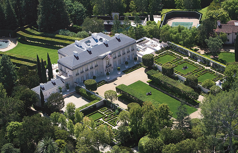 he Chartwell estate in the Los Angeles neighborhood of Bel Air went on the market this week at a price of $350 million. Credit: Coldwell Banker Global Luxury, Hilton & Hyland, and Berkshire Hathaway Home ServicesC