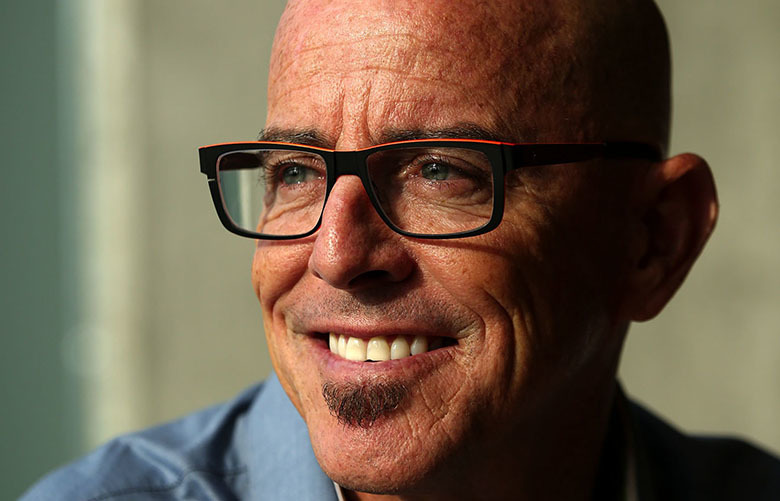 Blake Irving, CEO of GoDaddy, is talking about the company's expansion in Kirkland, Wash. Monday, Aug. 24, 2015.