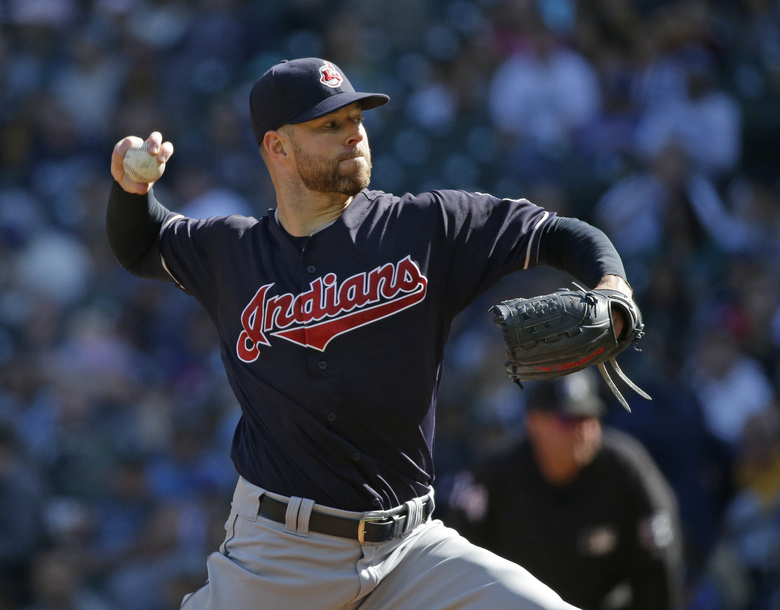 Cleveland starting pitcher Corey Kluber has been baseball's most dominant pitcher in the second half of the season. (Ted S. Warren/AP)