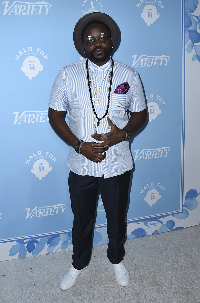 Brian Tyree Henry arrives at the 69th Primetime Emmy Awards Variety and Women in Film pre-Emmy celebration on Friday, Sept. 15, 2017 in Los Angeles. (Photo by Jordan Strauss/Invision/AP)