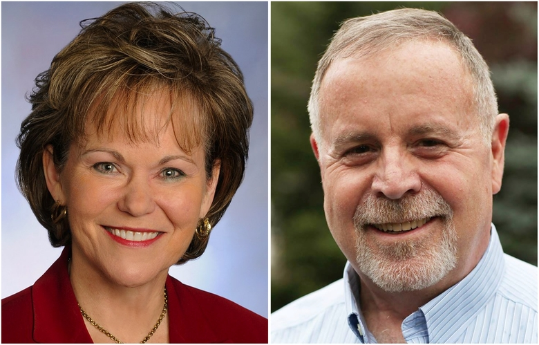 Councilmember Kathy Lambert, left, and John Murphy are running for Metropolitan King County Council, District 3 in the 2017 election. (Courtesy of candidates)