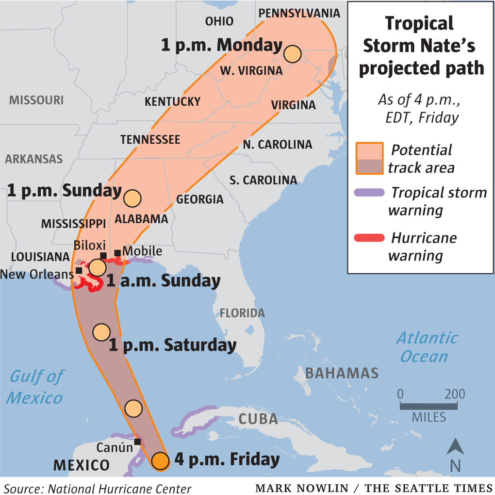 Forecasters Said It Was Likely To Reach The U S Gulf Coast As A Hurricane Over The Weekend