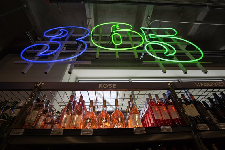 The 365 by Whole Foods Market store at Bellevue Square opened in 2016 with a selection of 400 wines, all costing less than $20. It also carried a selection of grab-and-go prepared foods.  (Ellen M. Banner/The Seattle Times)