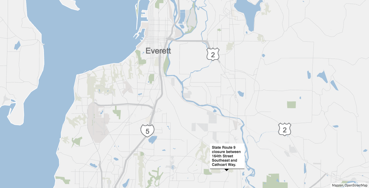 Highway 9 near Snohomish closed Tuesday evening as bomb squad investigates incident