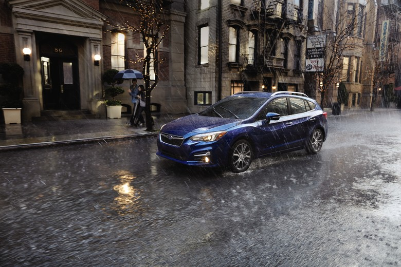 In snowy, slushy or rainy winter conditions, all-wheel drive helps a vehicle accelerate better and maintains its traction on slick surfaces. (Courtesy of Subaru via AP)