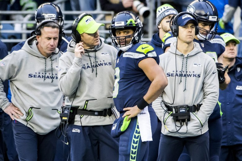 Now that Darrell Bevell is out as offensive coordinator the question becomes who will take his place. (Bettina Hansen / The Seattle Times)