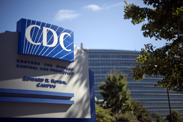In this Oct. 8, 2013, file photo, a sign marks the entrance to the federal Centers for Disease Control and Prevention in Atlanta, Georgia. (AP Photo/David Goldman, File)