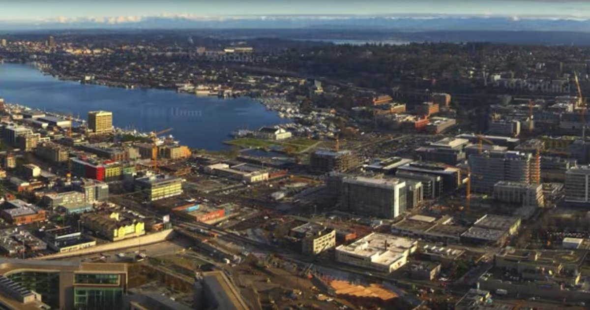 Time-lapse video shot over three years atop the Space Needle reveals Seattle's astounding growth