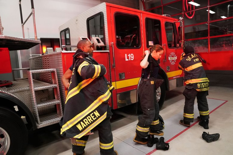 "The latest series from the executive producers of ""Grey's Anatomy"" follows a group of heroic firefighters at Seattle Fire Station 19 as they risk their lives and their hearts both in the line of duty and off the clock. (Mitch Haaseth / ABC)"