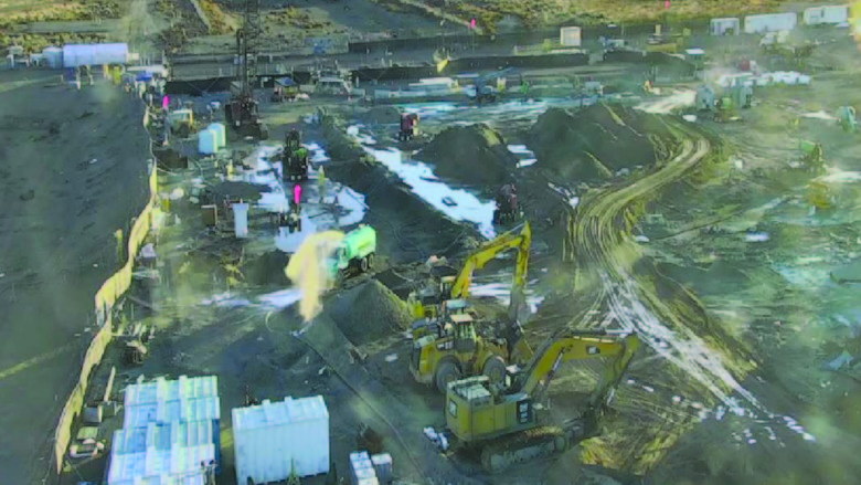 State monitoring has found elevated readings of radioactive contamination at  the Hanford Site. In December, demolition work at Hanford's plutonium finishing plant was suspended after wind picked up radioactive particles and spread them.  (Courtesy of U.S. Department of Energy)