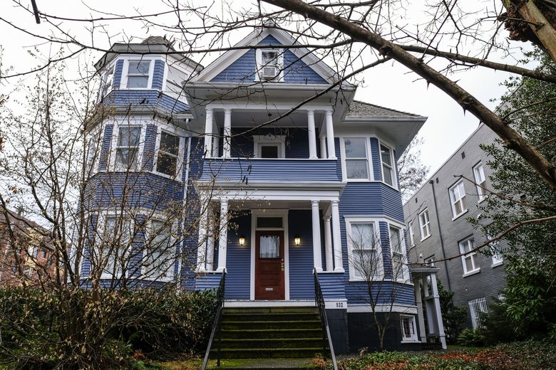 William McClelland won't be able to utilize all three apartments in his Central District Victorian as short-term rentals. (Dean Rutz/The Seattle Times)