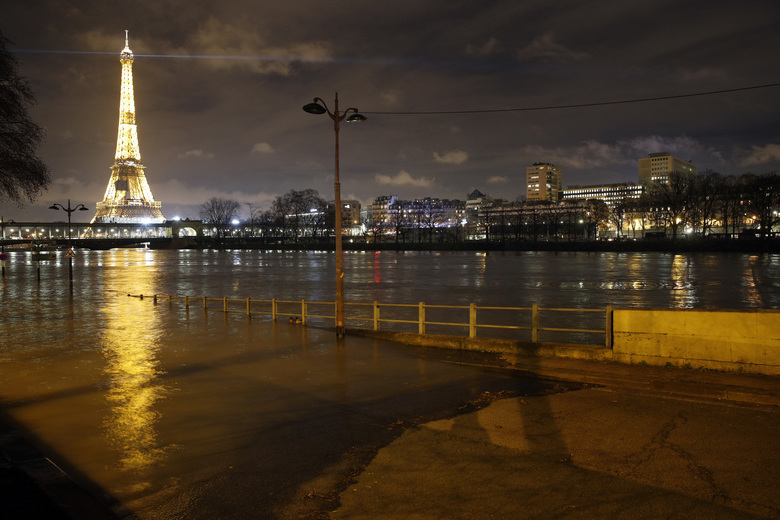 Paris, French towns swimming in flood waters