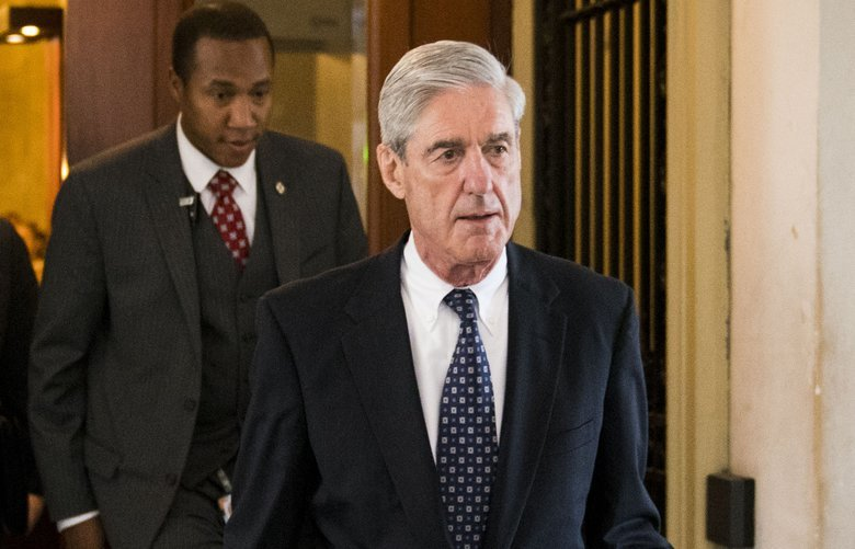 FILE– Robert Mueller, the special counsel investigating Russia's interference in the 2016 election, leaves the Capitol in Washington, June 21, 2017. Mueller has charged an attorney with making a false statement when he was interviewed about work he did with a Donald Trump presidential campaign adviser six years ago. The attorney, Alex van der Zwaan, was expected to appear in court on Feb. 20, 2018. (Doug Mills/The New York Times) XNYT4 XNYT4
