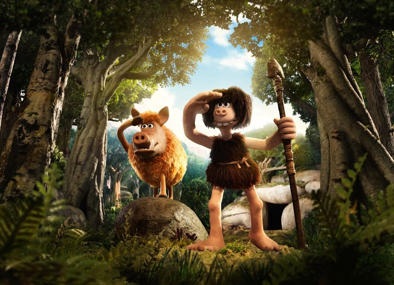 "Hognob and Dug (voiced by Eddie Redmayne) in ""Early Man."" (Courtesy of/Aardman)"