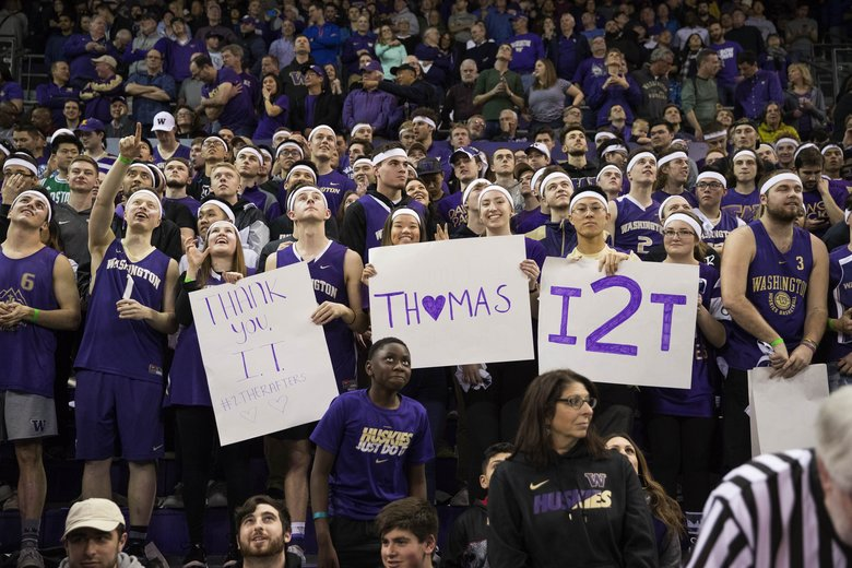 best service 077d2 79114 I'm home once again': Isaiah Thomas returns to UW as Huskies ...