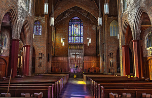 """READER'S LENS ONE TIME USE ONLYChristopher Picard2018/02/17""""A few of the old churches in the city have truly fabulous interiors. This image was taken inside the Blessed Sacrament Catholic Church in the Ravenna area. I used a Nikon D810 with a Tamron 15 X 30MM lens. (1/100 Sec., f/3.5, ISO 400)."""""""