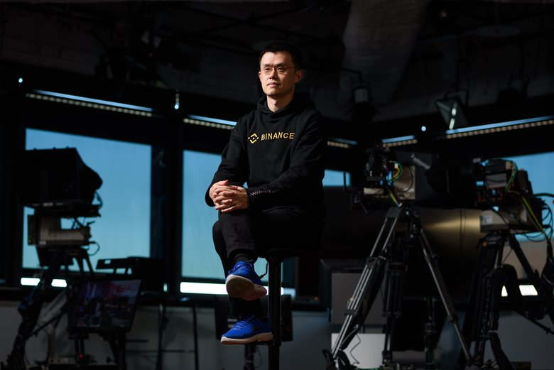 Zhao Changpeng, chief executive officer of Binance, is seen after a Bloomberg Television interview in Tokyo last month. Forbes published the major cryptocurrency billionaires on the day prices dropped.  (Akio Kon/Bloomberg)