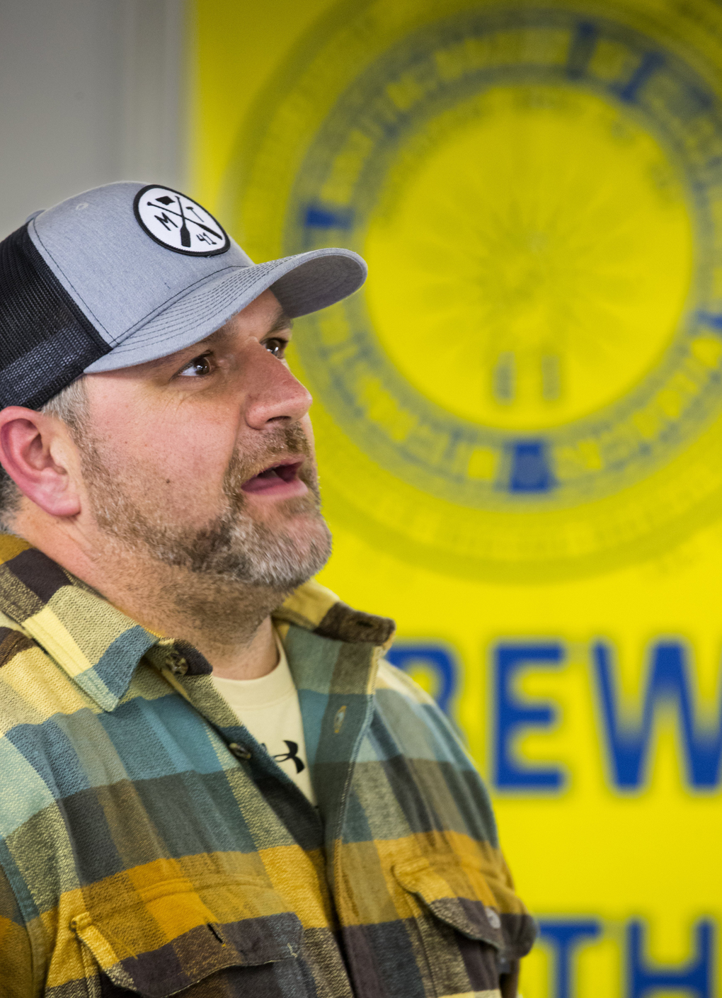 Stacey Yates defeated Rex Rogers to take over as business manager of Local 1683 of the International Brotherhood of Electrical Workers. He followed his father into work at the plant. Now, his eldest son has a job there, too.  (Mike Siegel/The Seattle Times)