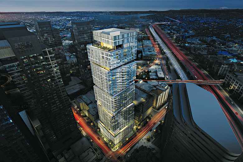 NEXUS is a 41-story condominium high-rise under construction at the corner of Howell Street and Minor Avenue in Seattle.