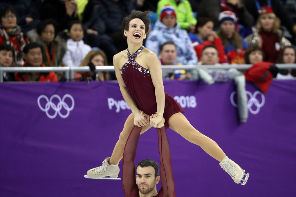 Meagan Duhamel and Eric Radford of Canada.  (Chang W. Lee/The New York Times)