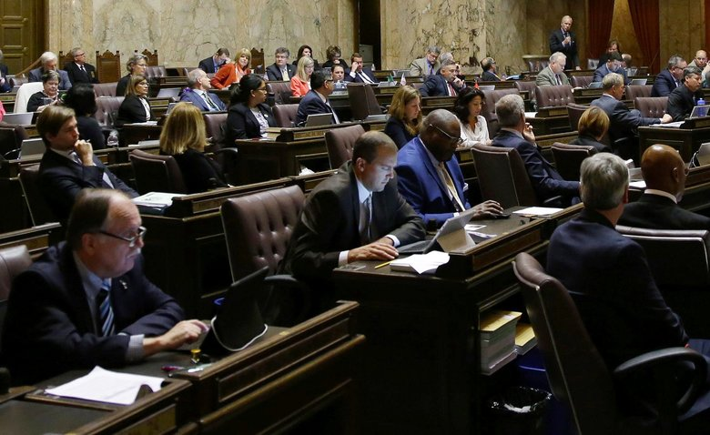 Self-interest, mixed with a dislike of the nosy press, finally bridged the partisan divide in Olympia. (Ted S. Warren / The Associated Press, file)