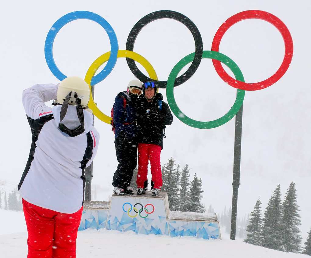 Get your photo snapped by the Olympic rings, a reminder of the 2010 Winter Games on the slopes of Whistler Blackcomb. (John Nelson)