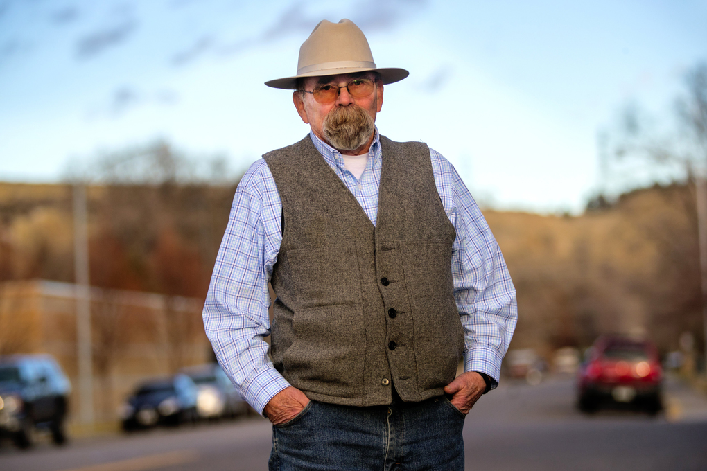 """You ain't going to morph Colstrip into something else,"" says Montana state Sen. Duane Ankney, a staunch defender of Colstrip and its coal economy. He once earned his living helping to process the coal mined outside of town. (Mike Siegel / The Seattle Times)"