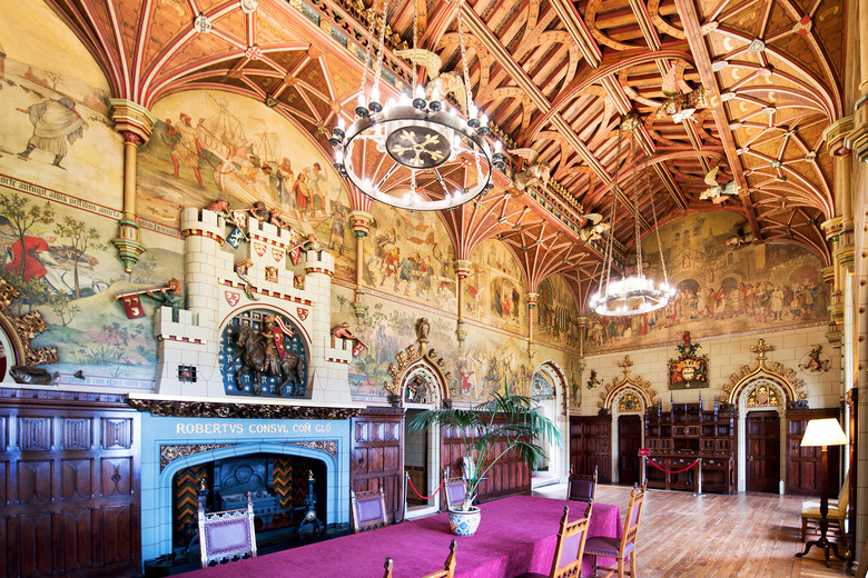 The stunning Banqueting Hall inside Cardiff Castle is a Victorian fantasy of what a medieval dining hall might look like. (Cameron Hewitt, Rick Steves' Europe)