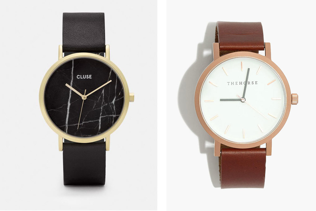 From left: Cluse La Roche Watch, $139; The Horse Original Watch, $119