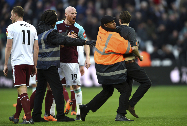 West Ham United shame as fans invade pitch at London Stadium