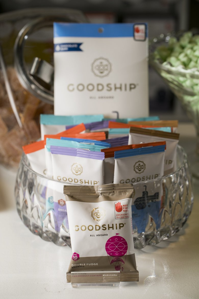 The Goodship packages cannabis-infused sweet treats, like cookies, brownies and candies, in measured and labeled doses. Entrepreneurs discover quickly that the cannabis industry is extremely complex.  (Bettina Hansen/The Seattle Times)