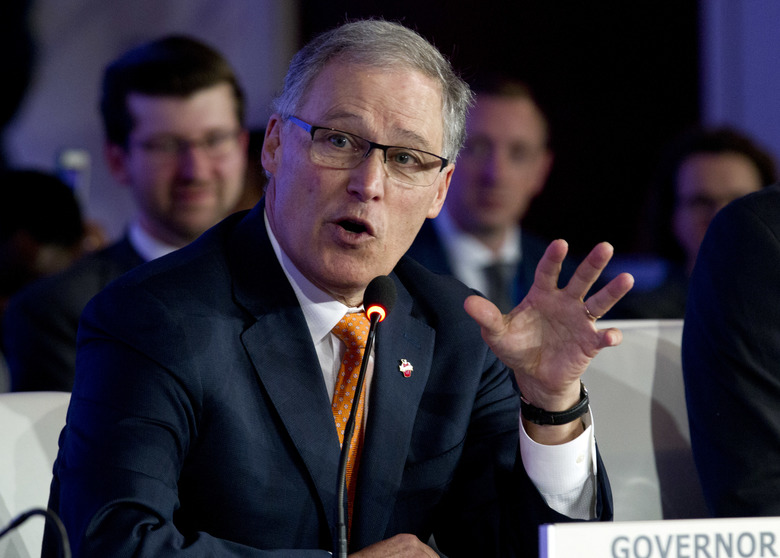 Gov. Jay Inslee vetoed Legislature's controversial public-records bill Thursday evening. Gov. Inslee had until the end of Thursday to decide whether to allow the Washington Legislature's public-records bill to become law. (Jose Luis Magana / The Associated Press)