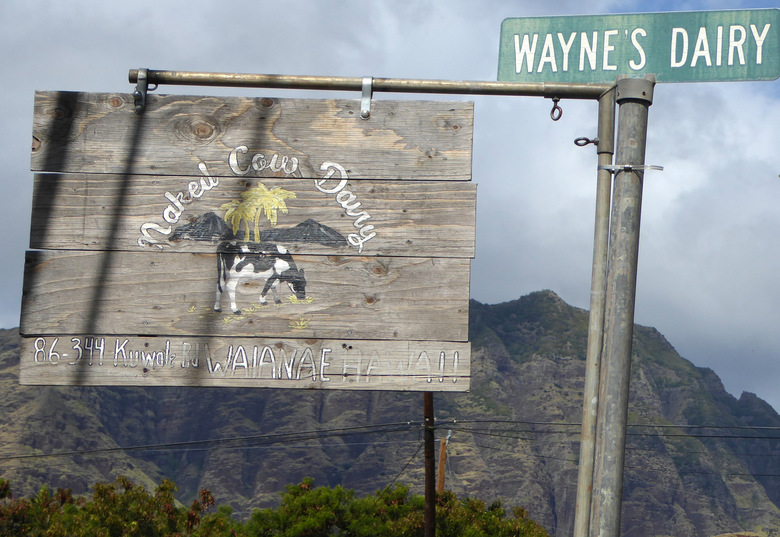 It's too warm in Hawaii for cattle to wear clothes, apparently. Naked Cow Dairy's signage is limited, making it easy to miss, but it's a worthwhile stop. (Jackie Smith)