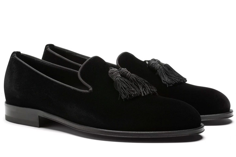 Suit Supply Black Velvet Slippers, $299
