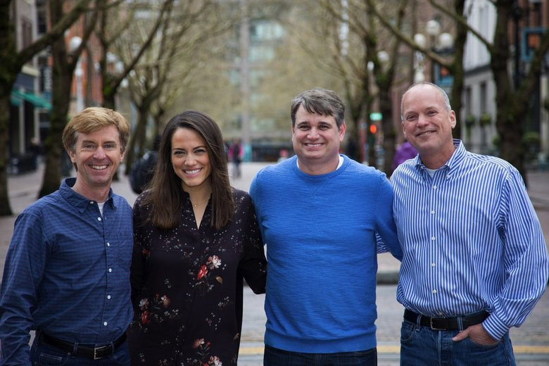 Pioneer Square Labs managing directors (from left) Mike Galgon, Julie Sandler, Greg Gottesman and Geoff Entress all invested in the firm's first investment fund. (Courtesy of Pioneer Square Labs)