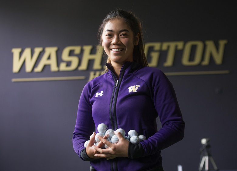 UW golfer Wenyung Keh will lead the Huskies into the Pac-12 championships in Seattle. (Steve Ringman/The Seattle Times)