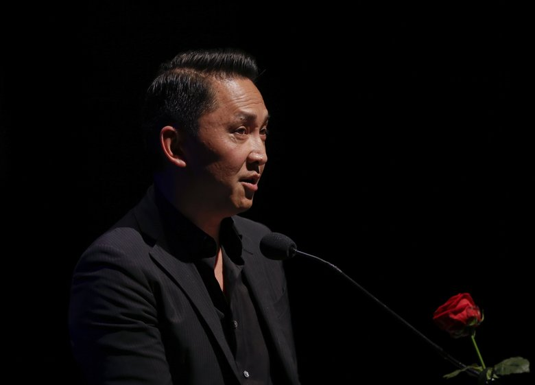 Viet Thanh Nguyen, winner of the Pulitzer Prize for fiction in 2016, comes to Benaroya Hall May 7 and will be interviewed by novelist Jamie Ford. (Luca Bruno/AP)
