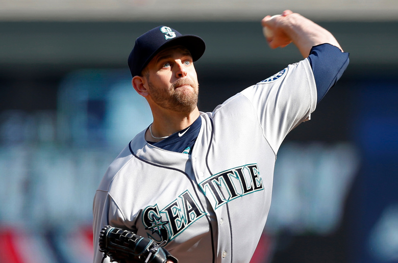 Seattle Mariners pitcher James Paxton gets the start for the M's against the Astros Monday night. (AP Photo/Jim Mone)