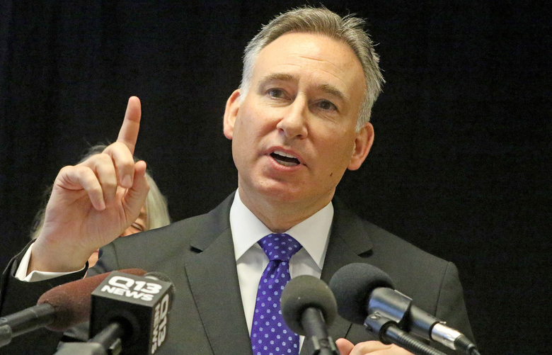 King County Executive Dow Constantine formed a committee to examine how the county conducts inquests into shooting deaths and other fatalities at the hands of police.  (Greg Gilbert/The Seattle Times)