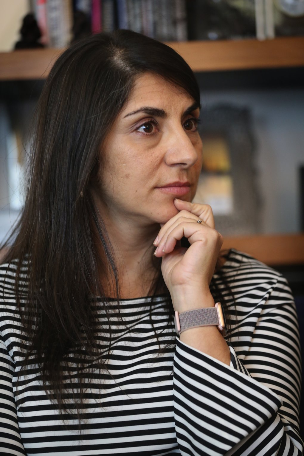 Hala Annabi, an associate professor in the University of Washington Information School, researches job opportunities for people with autism. (Ellen M. Banner/The Seattle Times)