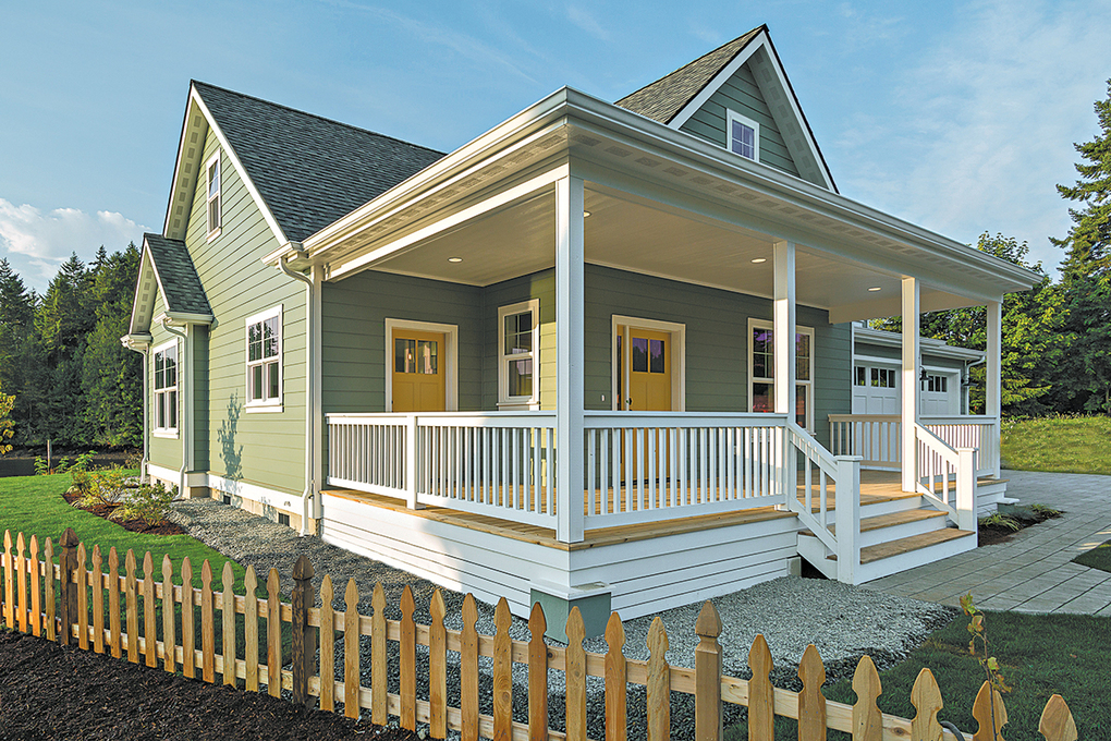 The new homes in both neighborhoods feature Craftsman-style accents and designer paint colors.