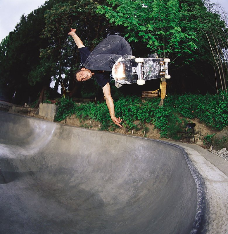 "Roger Mark Hubbard, known as ""Monk"" within the skateboarding community, built dozens of skate parks across Washington and hundreds around the world.  (Courtesy of the Hubbard family)"