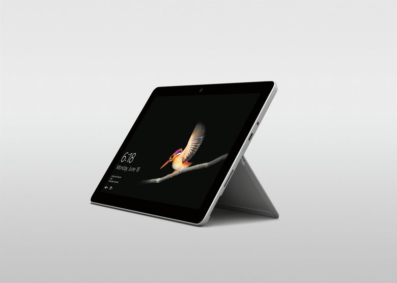Microsoft's smallest Surface tablet yet, the Surface Go, will start at $399 and appear in stores Aug. 2.  (Microsoft / )