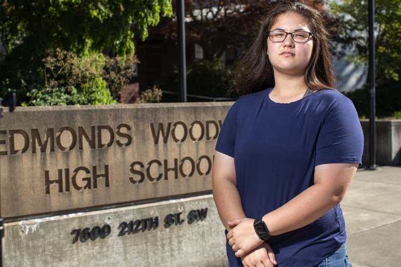Edmonds-Woodway graduate Sadie Kim is hoping her International Baccalaureate diploma will give her a leg up as she enters the University of Washington in the fall. But the UW is is offering relatively little credit for her hard work. (Dean Rutz / The Seattle Times)