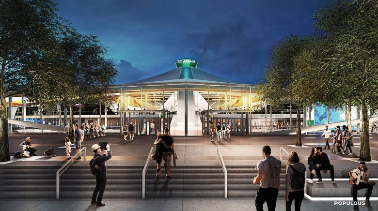 A full council vote upcoming on Sept. 24 to finalize the KeyArena renovation will pave the way for an NHL executive committee meeting Oct. 2 in which the league could send a strong signal it will award a franchise here by December to start play in 2020. (Populous)