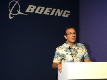 Boeing sales chief Ihssane Mounir, speaking at Boeing's closing press conference on the last business day of the  Farnborough Air Show.
