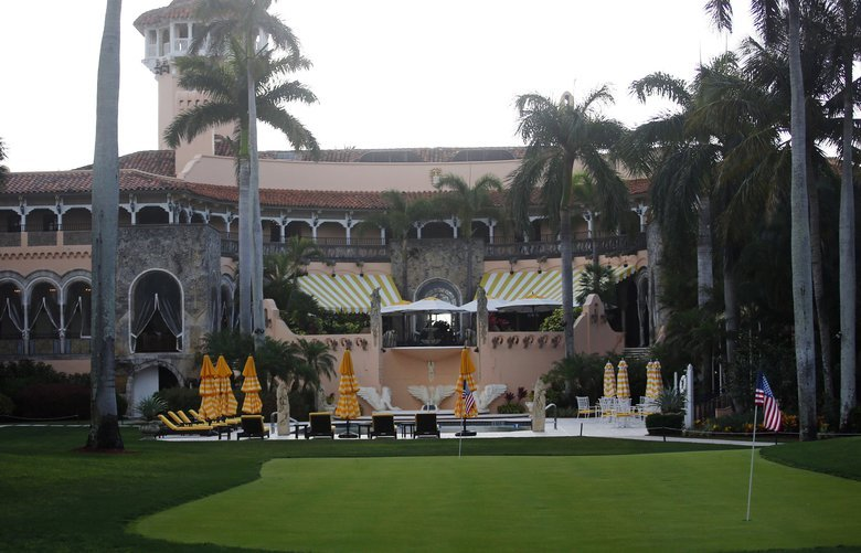 FILE – This April 15, 2017, file photo shows President Donald Trump's Mar-a-Lago estate in Palm Beach, Fla. They were expecting extensive visitor logs from President Donald Trump'Äôs Mar-a-Lago resort. Instead, a group of government watchdogs got a list of 22 Japanese officials who'Äôd joined their country'Äôs prime minister at the property during a February trip. Justice Department officials say the remaining records are exempt from public records laws. (AP Photo/Alex Brandon, File) WX101 WX101 WX101